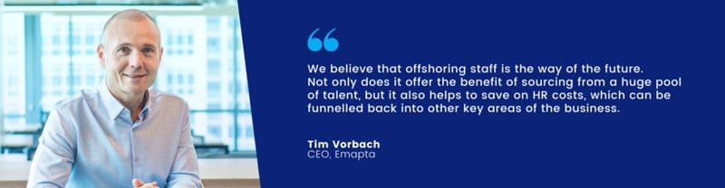 Tim Vorbach Quote Offshoring Is The Future Of Business