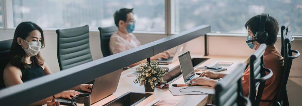 Employees Wearing Masks