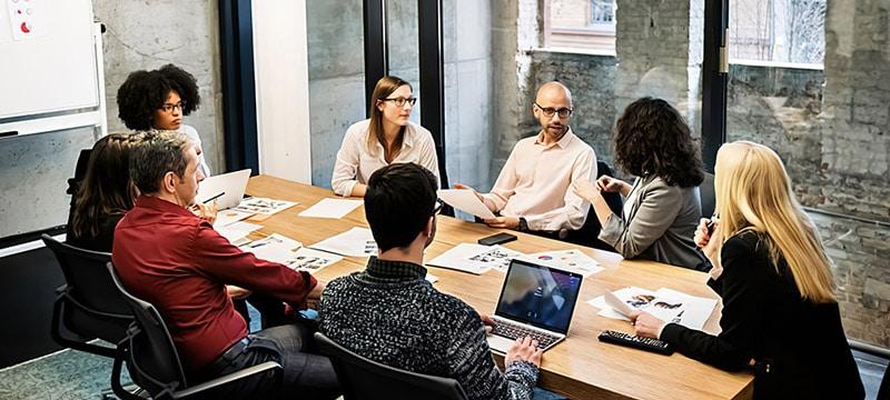 Successful Team Having Meeting