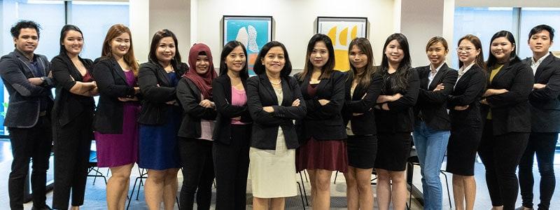 Synchronized employees of Emapta