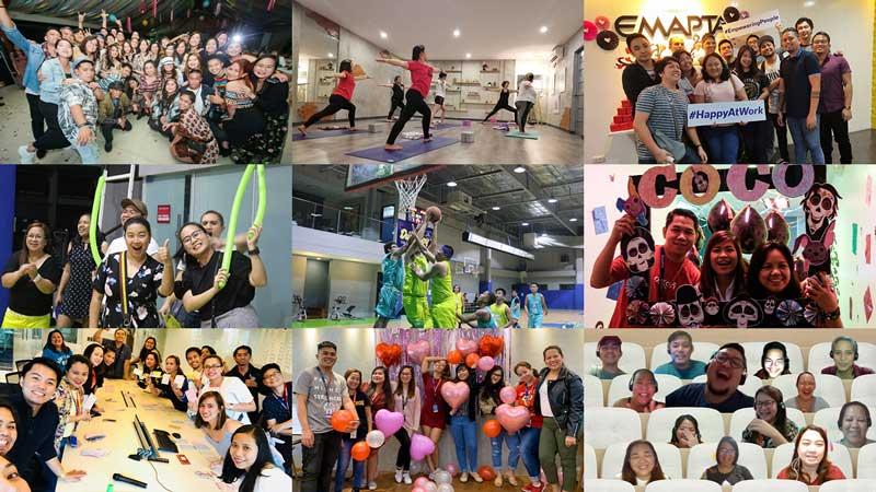 Emapta employees working happily